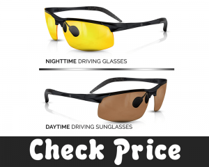 cloth pouch 1x Anti glare HD yellow tint night time//low light driving glasses