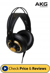 AKG K240STUDIO Semi-Open Over-Ear Professional Studio Headphones-min