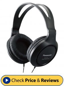 Panasonic RP-HT161 –K Full-Sized Over-the-Ear Headphones