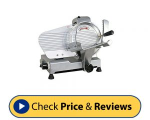 Super Deal Commercial Stainless Steel Semi-Auto Bacon Slicer