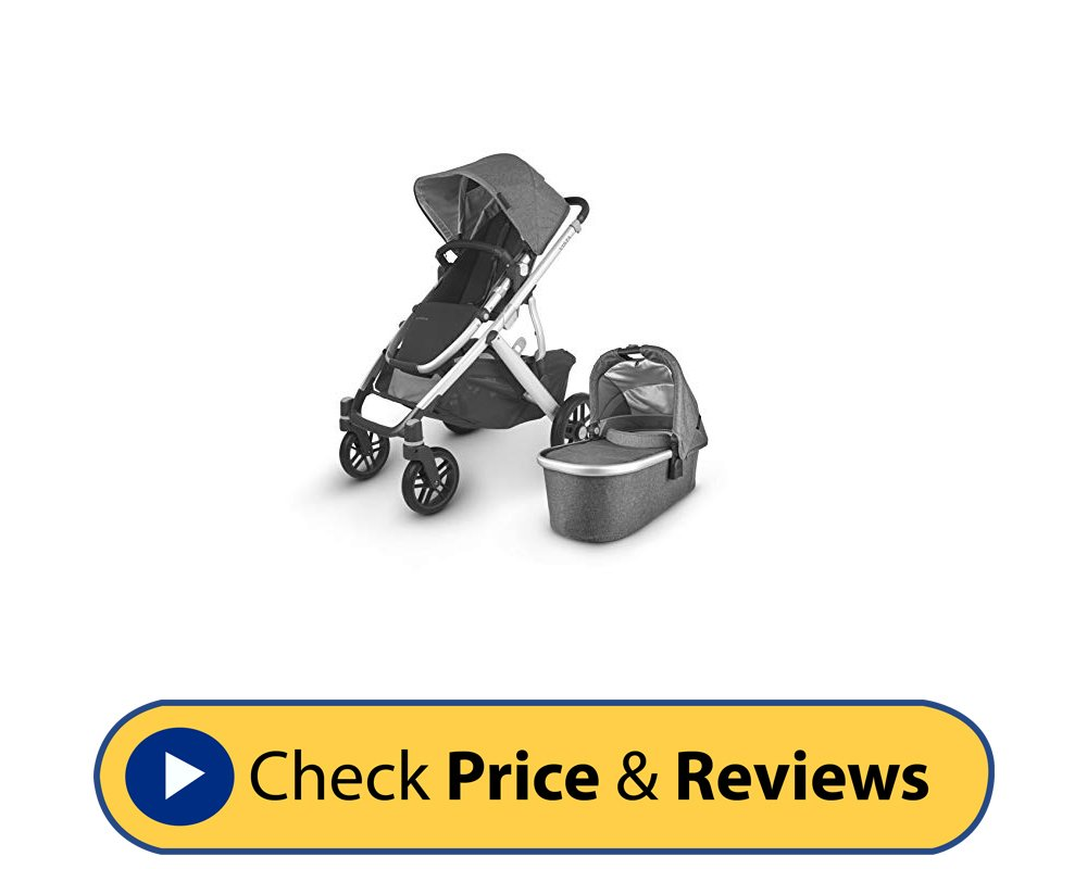 Vista V2 Jordan Charcoal Silver Leather Stroller